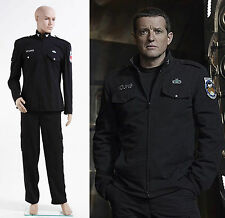 Stargate Universe SGU Black Uniform Costume Jacket Pants  Cosplay Halloween