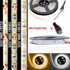 5M SMD 300 600 LED 3014 3528 5050 5630 Non- Waterproof Flexible Strip Light 12V