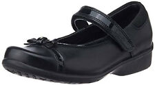 Clarks DAISY DAWN Girls Black Leather School Shoes 10 - 12.5 E F & G Fit BOXED