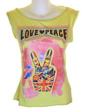 Bnwt French Connection Sleeveless Top T Shirt Vest Tank Top Love & Peace