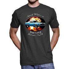 Ford Mustang Boss 302 Road Warrior Men`s Dark T-Shirt