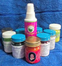 3 BOTTLE NATURAL BALM HOT-COLD OIL MUAY THAI BOXING MUSCLE PAIN RELIEF INHALER
