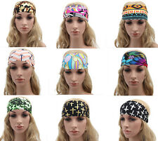 Women Yoga Wide Sports Stretch Hairband Hair Band Elastic Turban Headband New