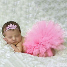 Newborn Tutu Clothes Skirt Baby Girls Knitted Crochet Photo Prop Outfits Cute