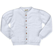 Girls Sweater Embroidered Rosebuds White Cardigan Sweater NWT 9m-6T Babeeni