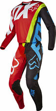 Fox Racing Mens Red/Black/Blue/Yellow 360 Creo Dirt Bike Jersey Pants Kit Combo
