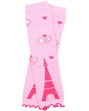 Baby Girl Love Eiffel Tower Pink Hearts Leg Warmers Toddler Infant Newborn