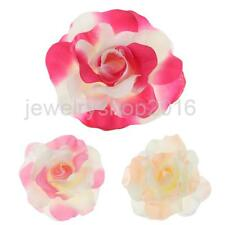 Rose Flower Hairpin Silk Flocking Hair Clip DIY Headdress for Wedding Party