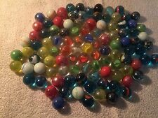 BULK LOTS OF ASSORTED MARBLES WITH CAT'S EYES 25/50//75/100 ASSORTED COLORS