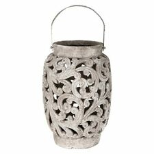 NEW Casa Uno Tall Ornate Candle Holder in Black, Grey