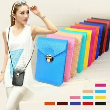 PU Leather Mini Cross-body Messenger Bag Purse Shoulder Bag Mobile Phone Bag