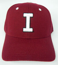 INDIANA HOOSIERS CRIMSON NCAA VINTAGE FITTED SIZED ZEPHYR DH CAP HAT NWT!