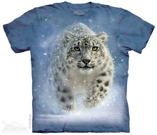 SNOW GHOST LEOPARD T Shirt The Mountain Animal Nature America Tee S-3XL 4XL 5XL