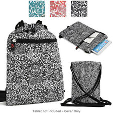 6 - 8 inch Tablet Paisley Protective Drawstring Backpack Case Cover BG10P2B2-7