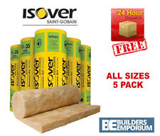Isover X5 Loft Insulation Spacesaver Roll Glass Mineral 100, 150, 170, 200mm