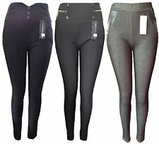 New Ladies Women's Plus Size Form Fitting Fashion Jean Jeggings Leggings 3XL-6XL