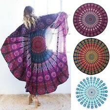 Summer Women Round Mandala Beach Boho Bikini Cover Up Scarf Shawl Swimwear Pareo