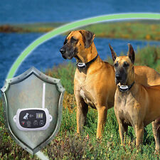 Pet Electronic Wireless Remote Control Training 2 Dogs Fence Containment System