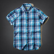 Hollister by Abercrombie and Fitch! New Mens Blue White Plaid Shirt-MED-LG-XLG
