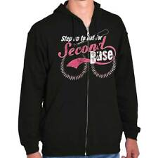 Save Second Base Breast Cancer Awareness Womens Clothes Gift Zipper Hoodie