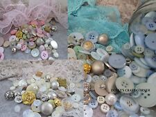 Vintage Style Buttons - 75 Grams Beautiful Pearl Metallic & Coloured FREE POST