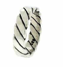 New 925 Sterling Silver 6mm Twist Band Ring
