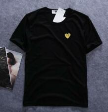 Men's Comme Des Garcons CDG Play Gold Heart R-neck Short Sleeve womens T-shirts