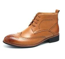 Men brogue Casual Leather Wing Tip High Top Dress Shoes Ankle Boots Oxfords Sz