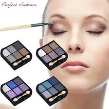 New Cosmetic Kit 6 colors Natural Makeup Eyeshadow Palette  Eye Shadow Brush Set