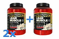 2 x BSc Nitrovol 1.5kg Lean Muscle Protein Powder Body Science Recovery Whey WPC