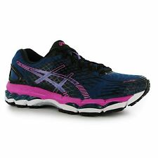 Asics Gel Nimbus 17 Running Shoes Womens Blue/Pink Run Fitness Trainers Sneakers