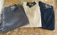 NEW Calvin Klein Mens Cotton Flat Front Chino Pants W: 30 32 34 36 38 Pick Color