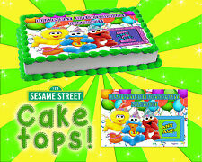 Sesame Street birthday edible Cake toppers picture decal sugar paper first image