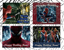 AMAZING SPIDER MAN Edible Birthday cake topper SUGAR image FROSTING SHEET icing