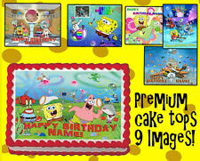 Cake Topper SPONGEBOB SQUAREPANTS Edible image icing Picture birthday photo for