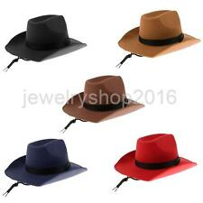 Mens Ladies Cowboy Hat Felt Fancy West Western Stetson Fedora Rodeo Hat Sunhat