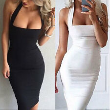 Women Sexy Sleeveless Bandage Bodycon Pencil Evening Cocktail Party Club Dress G