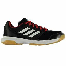 Adidas Multido 50 Indoor Court Training Shoes Mens Black/Red Trainers Sneakers