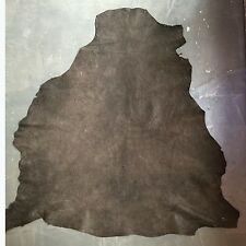Brown Cafe Genuine Lambskin Veg Tanned Leather Hides with Rustic Finish FS836