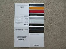 2016 EXPRESS FACTORY COLOR CHIP SAMPLE CHART BROCHURE NEW AND COOL