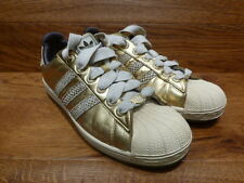 adidas Originals Superstar Shell Toe Gold Leather Trainers Size 8 Uk 42 EUR