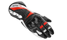 SPIDI STS-R LADY MOTORBIKE GLOVES WOMENS LADIES MOTORCYCLE RACE LEATHER RED