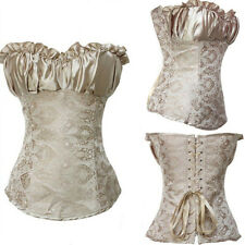 Sexy Brocade Bustier Waist Overbust Boned Lace up Corset 3 Patterns Plus Size