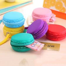 Lady Purse Macaron Silicone Waterproof Wallet Pouch Coin Bag Lovely Xmas Gift TS