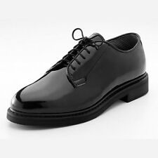 Black HI Gloss ROTHCO Corfram Military Dress Uniform Patent Leather Oxford Shoes