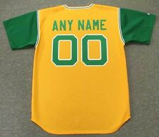 "OAKLAND ATHLETICS 1969 Majestic Cooperstown Home ""Customized"" Baseball Jersey"