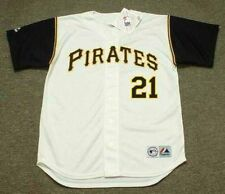 ROBERTO CLEMENTE Pittsburgh Pirates 1966 Majestic Throwback Home Baseball Jersey