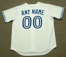 """TORONTO BLUE JAYS 1990's Majestic Cooperstown Home """"Customized"""" Baseball Jersey"""