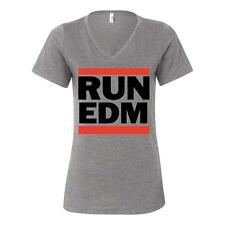 Run EDM Womens Relaxed V Neck Humor Soft Comfy Top Triblend