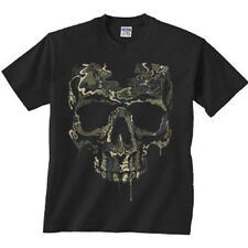 Military Skull Shirt Special OPS Camouflage T-Shirt Skull Camo All Sizes (587)